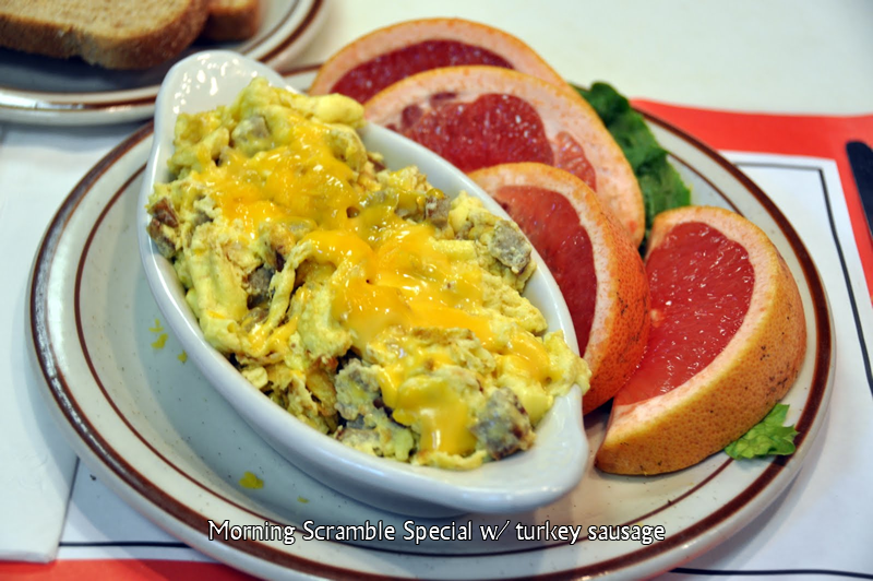 Morning Scramble Special with Turkey Sausage