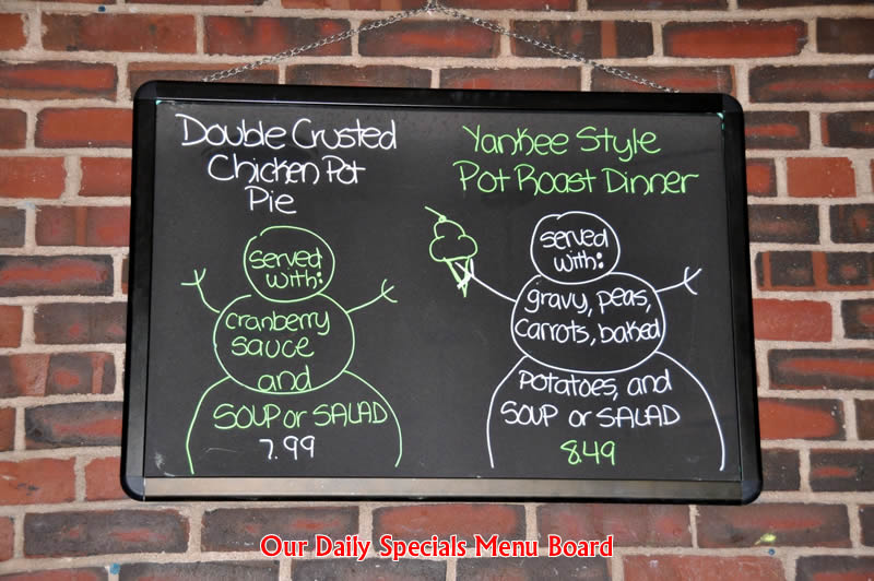 Daily Specials Menu Board