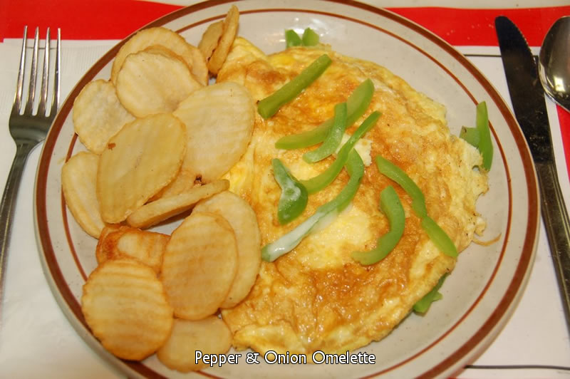 Pepper and Onion Omelette