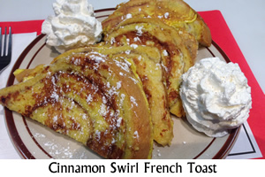 Cinnamon Swirl French Toast Special
