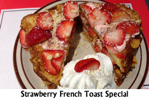 Strawberry Stuffed French Toast Special