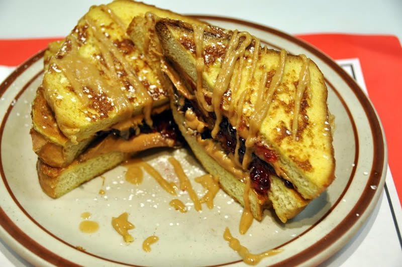 Breakfast Special Peanut Butter Jelly Stuffed French Toast