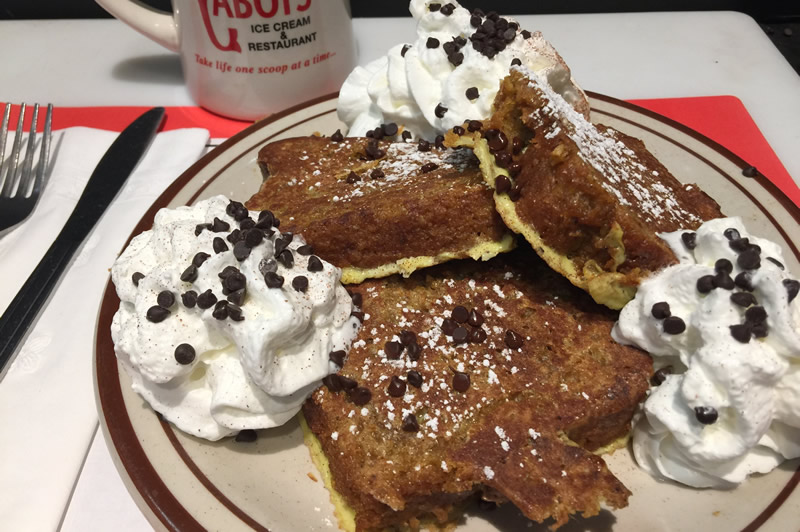 Pumpkin Bread French Toast Special