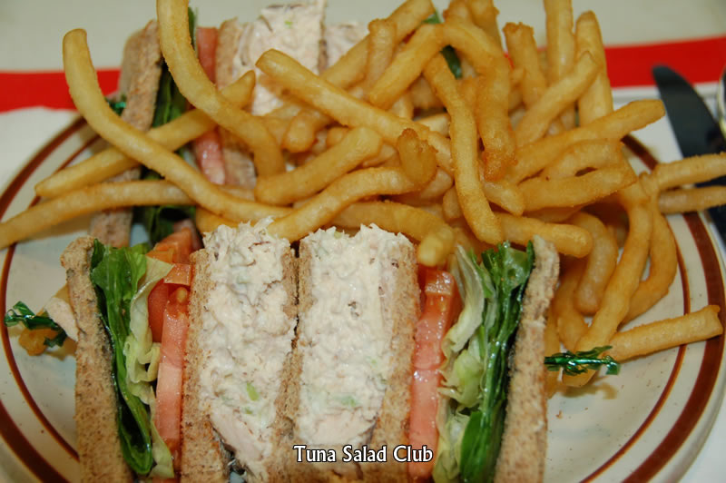 Tuna Salad Club Sandwich