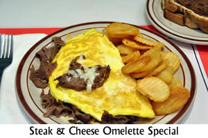 Stake and Cheese Omelette Special