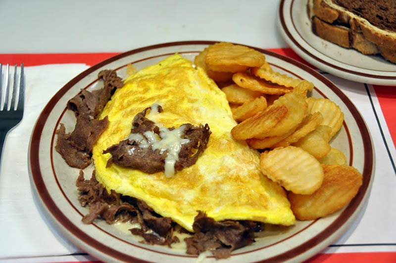 Steak and Cheese Omelette Special