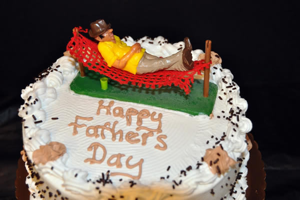 Father's Day Themed Ice Cream Cake.