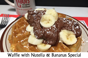 Waffle with Nutella & Bananas Special