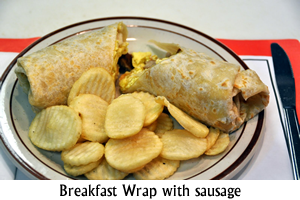 Breakfast Wrap with Sausage
