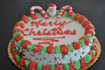 sample holiday themed ice cream cakes